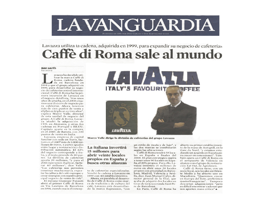 Il Caffè di Roma - Media relations